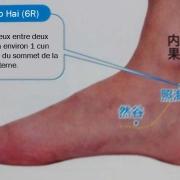 Le point Zhao Hai du méridien des reins (6R)