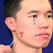 Le point Jia Che du méridien de l'estomac (6E)