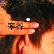 Le point Shuai Gu du méridien de la vésicule biliaire (8VB)