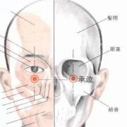 Le point Cheng Qi du méridien de l'estomac (1E)