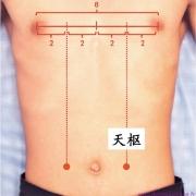 Le point Tian Shu du méridien de l'estomac (25E)