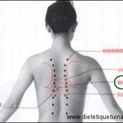 Le point Ge Shu du méridien de la vessie (17V)
