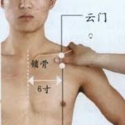 Le point Zhong Fu du méridien du poumon (1P)