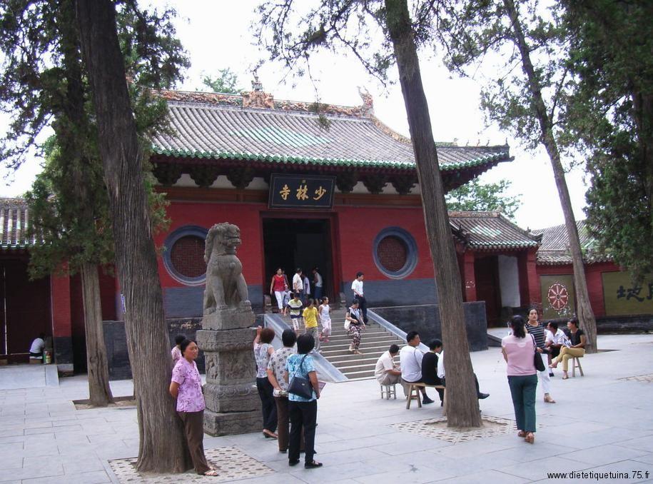 Le monastère de Shaolin en Chine