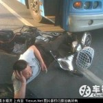 Accident léger en Chine
