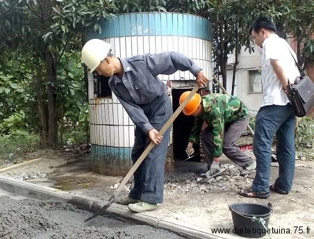 Réparation des conteneurs poubelle chinois