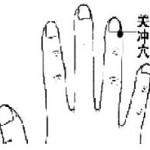 Le point Guan Chong du méridien du Trois Foyers (1TF)