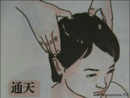 Massage du point 7V