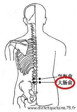 Le 25ème point énergétique du méridien de la vessie selon la médecine chinoise