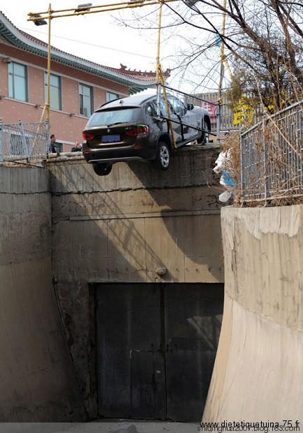 Accident de voiture en Chine