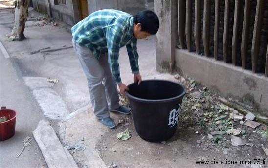 Poubelles en Chine