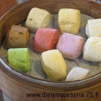 pains chinois avec de la couleur