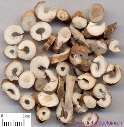 Ecorce de pivoine en morceaux