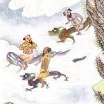 Le dieu Zhu Rong