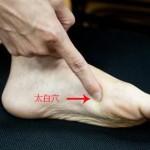 Le point Tai Bai du méridien de la rate (3Rt)