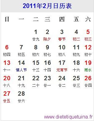 Présentation du mois de février