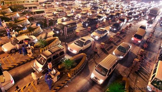 Queue de voitures en Chine