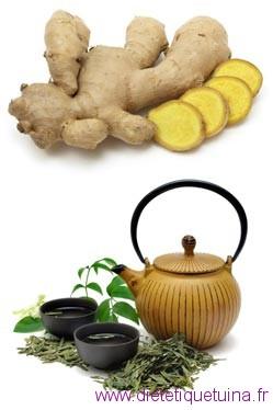 Gingembre et thé vert