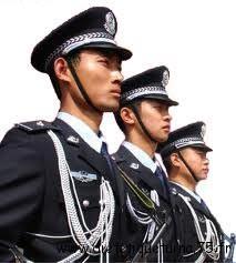 Policiers en Chine