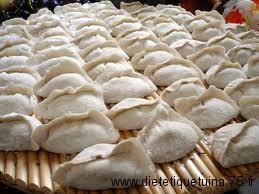 Jiaozi pret à être cuit