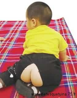 L'ouverture de derrière du pantalon pour bébé