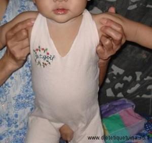 Le devant du pantalon pour Bébé