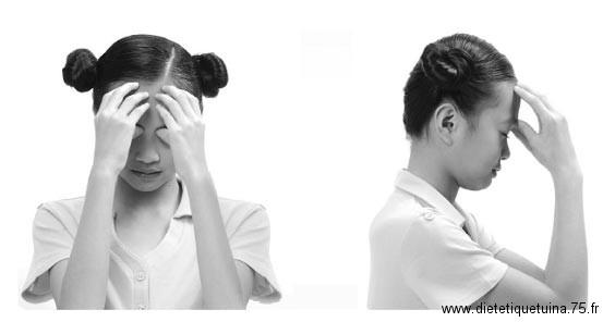 Massage du point 2V