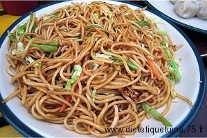 Plat de nouilles chinoise