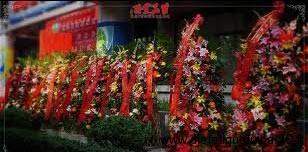 Fleurs devant un magasin chinois