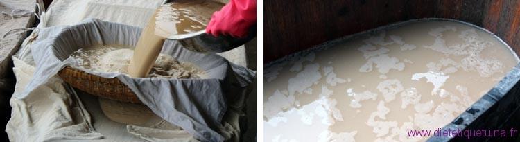 Lavage et rincage de la pate liquide
