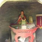 Intérieur d'un petit temple taoïste