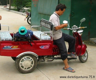 Tricycle à moteur en Chine