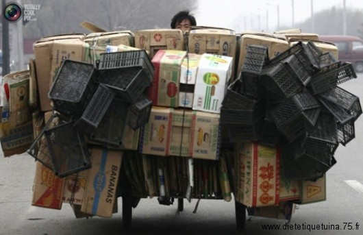 Enorme tricycle chinois