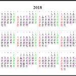 Calendrier 2018