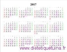 aperçu du calendrier 2017