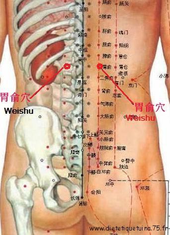 Vingt et unième point du méridien de la vessie selon la médecine chinoise